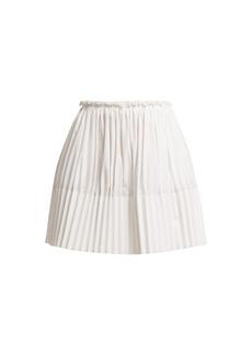Chloé Pleated cotton mini skirt
