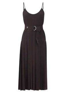 Chloé Pleated crepe midi dress
