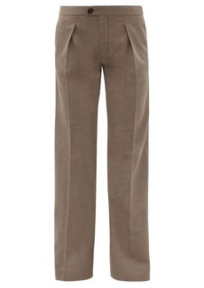 Chloé Pleated-front wool-blend twill tailored trousers
