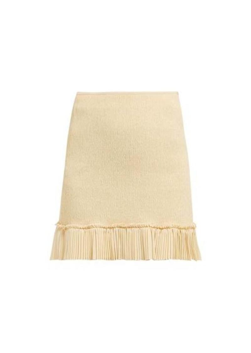 Chloé Pleated-hem plissé mini skirt