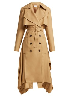 Chloé Pleated-hem wool-gabardine trench coat