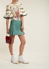 Chloé Pleated leather mini skirt