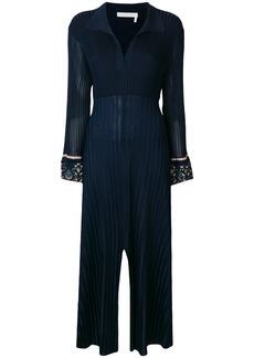 Chloé pleated longsleeved dress - Blue