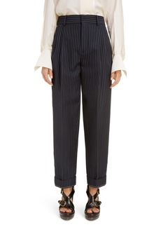 Chloé Pleated Pinstripe Ankle Pants
