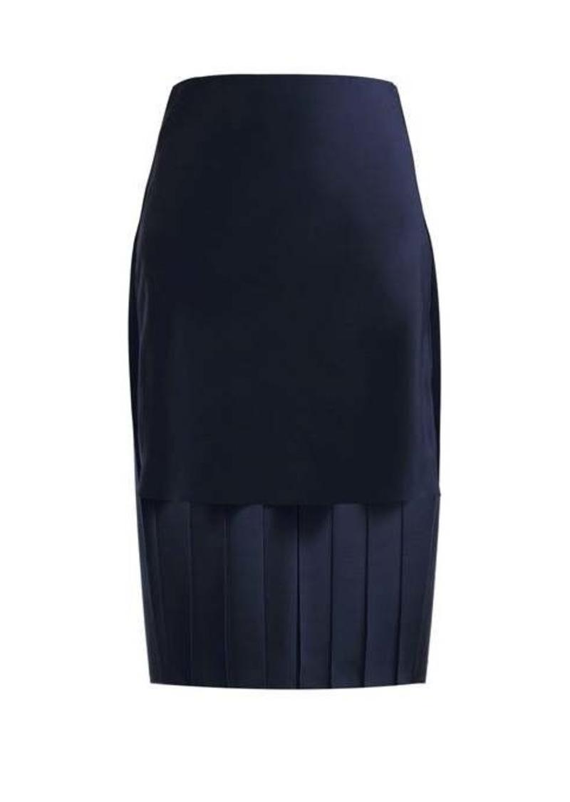 Chloé Pleated silk midi skirt