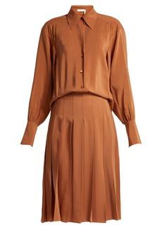 Chloé Pleated silk shirtdress