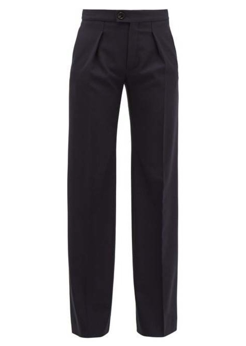Chloé Pleated wide-leg wool-blend trousers