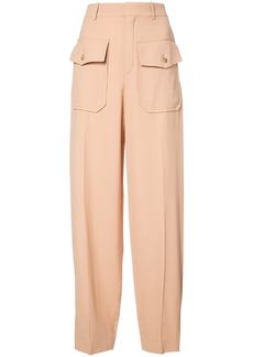 Chloé pocket embellished trousers - Brown