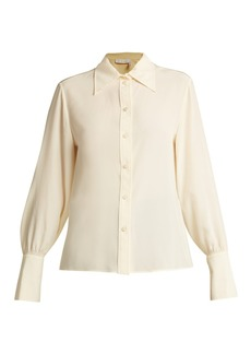 Chloé Point-collar silk blouse