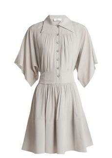 Chloé Point-collar silk shirtdress