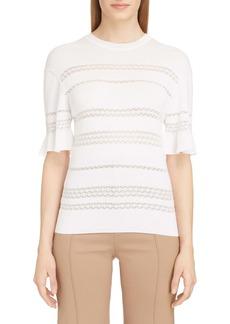 Chloé Pointelle Wool Blend Sweater