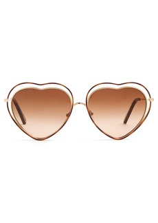 Chloé Poppy heart-shaped frame sunglasses