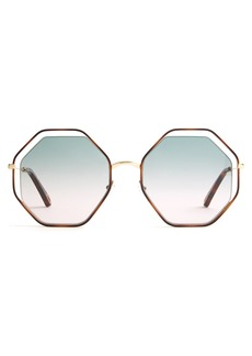 Chloé Poppy hexagon-frame sunglasses