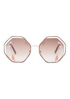 Chloé Poppy hexagon metal sunglasses