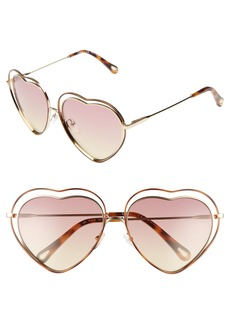 Chloé Poppy Love Heart Sunglasses
