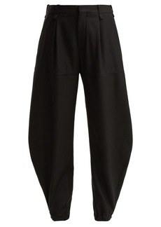Chloé Press-stud cuff virgin-wool trousers