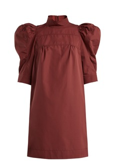 Chloé Puff-sleeve cotton poplin dress