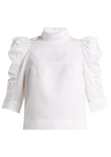 Chloé Puffed-sleeve cotton blouse