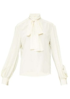 Chloé Pussy-bow crepe blouse