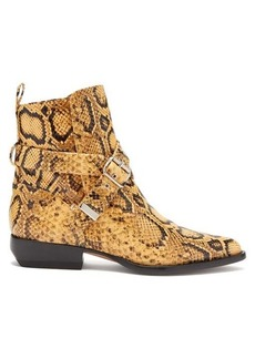 Chloé Python-effect leather ankle boots