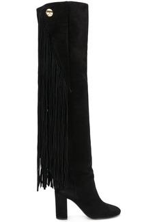 Chloé Qaisha fringed over-the-knee boots - Black