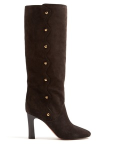 Chloé Qaylee suede knee-high boots