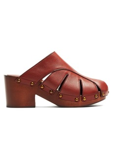 Chloé Quinty leather clogs