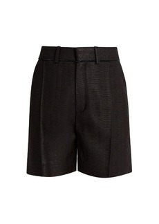 Chloé Raw-edge silk shorts