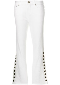 Chloé retro flared trousers - White