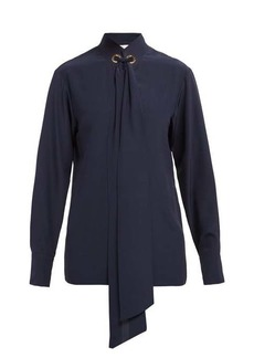 Chloé Ribbon-tie silk blouse