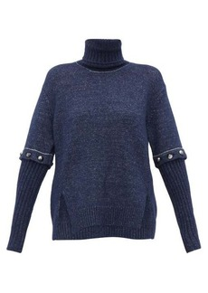 Chloé Roll-neck detachable-sleeve knitted sweater
