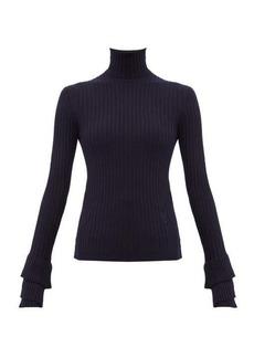 Chloé Roll-neck ribbed merino-wool sweater