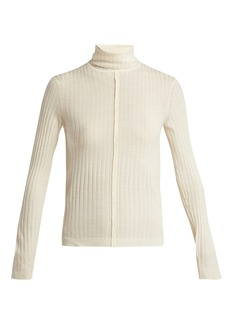 Chloé Roll-neck ribbed wool sweater