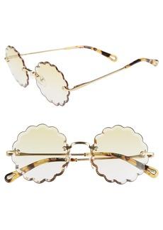 Chloé Rosie 53mm Scalloped Sunglasses