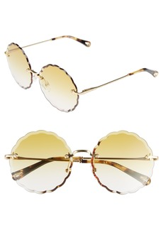 Chloé Rosie 53mm Scalloped Rimless Sunglasses