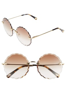 Chloé Rosie 60mm Scalloped Rimless Sunglasses