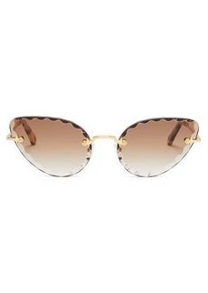 Chloé Rosie cat-eye metal sunglasses