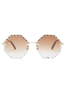 Chloé Rosie octagonal-frame sunglasses