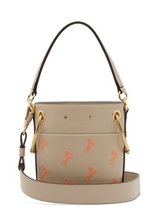 Chloé Roy Little Horse-embroidered leather bucket bag