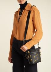 0e8785d205cb ... Chloé Roy Little Horse-embroidered mini bucket bag ...