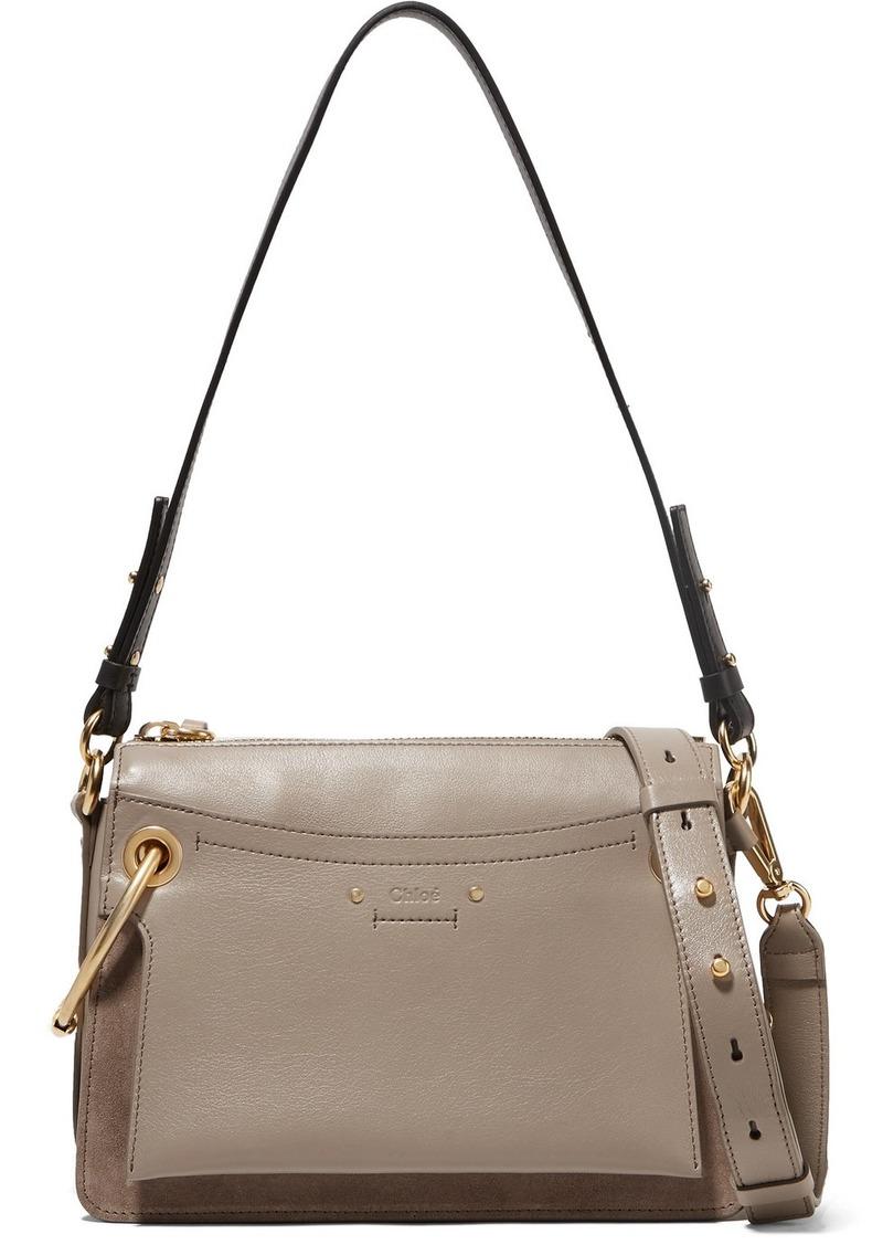 af7709425 Chloé Roy Small Leather And Suede Shoulder Bag | Handbags