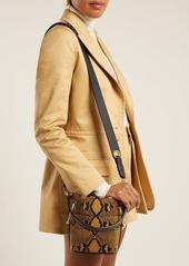 e01b4422e053e ... Chloé Roy snake-effect mini leather bucket bag ...