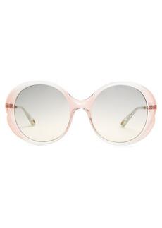 Chloé Rubie round-frame acetate sunglasses