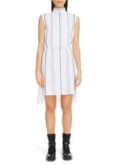 Chloé Ruffle Trim Stripe Step Hem Dress