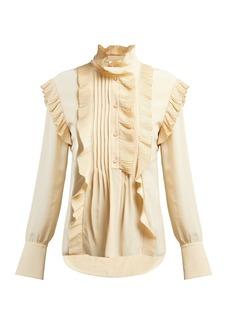 Chloé Ruffled crepe de Chine blouse