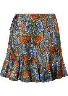 Chloé Ruffled Printed Jersey Mini Skirt