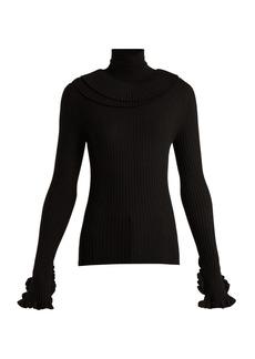 Chloé Ruffled-trim wool sweater