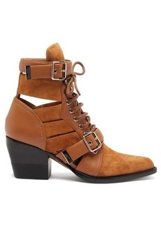 Chloé Rylee cut-out suede ankle boots