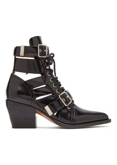 Chloé Rylee cut-out patent-leather ankle boots