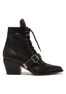 Chloé Rylee grained-leather ankle boots